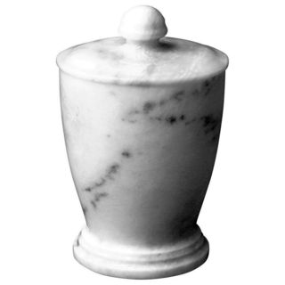 Nature Home Decor Atlantic White Marble Canister