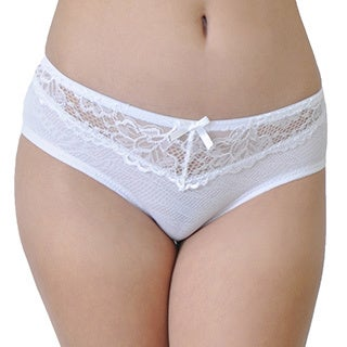 Prestige Biatta Women's White Mesh and Lace Hipster
