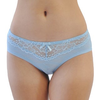 Prestige Biatta Women's Light Blue Mesh and Lace Hipster