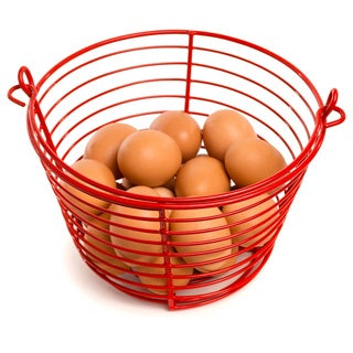 Prevue Pet Products Red 8-inch Diameter Egg Basket