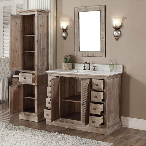 Bathroom Vanity And Matching Linen Tower - Bathroom Design ...