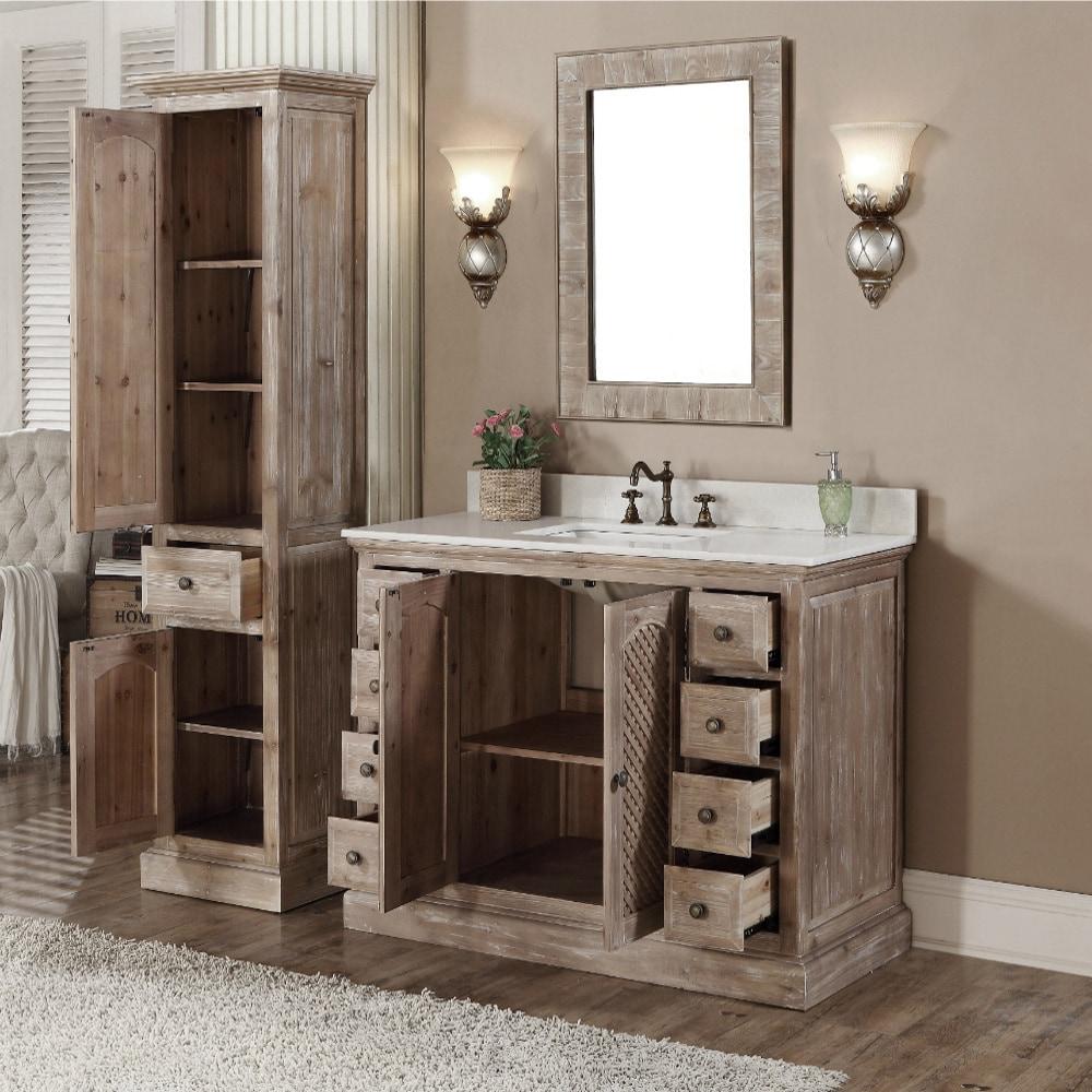 Bathroom Vanity And Matching Linen Tower Bathroom Design