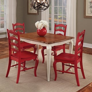 Home Styles French Countryside white and oak 5-piece Dining Set