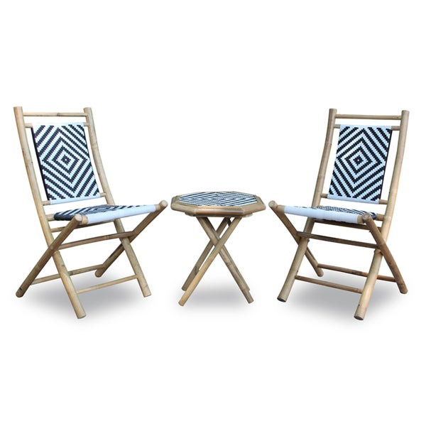 Bamboo Table and Two Chairs Set - Free Shipping Today - Overstock ...