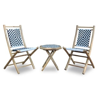 Bamboo Table and Two Chairs Set