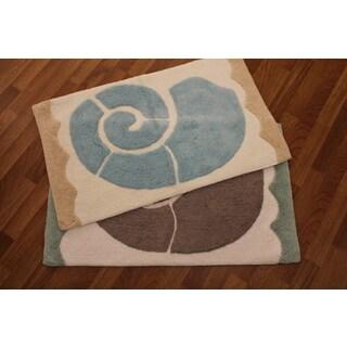 Bay Head Hand-crafted Bath Rug (2' x 3')