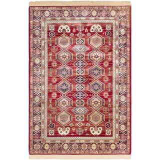 ecarpetgallery Shiravan Red Rug (3'11 x 5'7)