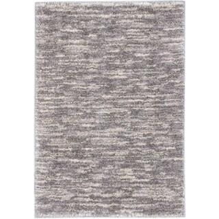 ecarpetgallery Yeti Beige, Gray Shag (3'10 x 5'7)