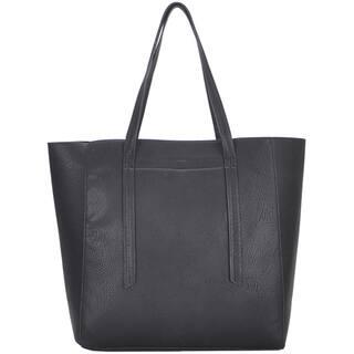 Mechaly Women's Ashley Black Vegan Leather Hobo Handbag|https://ak1.ostkcdn.com/images/products/10980002/P18002478.jpg?impolicy=medium