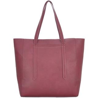 Mechaly Women's Ashley Wine Vegan Leather Hobo Handbag