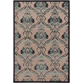 ecarpetgallery Alhambra Blue, Gray, Green  Rug (5'3 x 7'6)