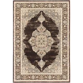 Shahrzad Kerman Medallion Corners Rug (311 x 53 - Cream/Dark Brown)