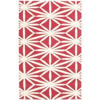 ecarpetgallery Baroque Beige, Red Wool Rug