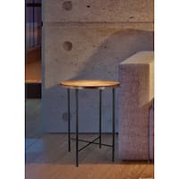 Highpoint Wood and Metal Accent Table