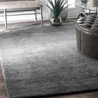 Clay Alder Home Colville Handmade Modern Solid Ombre Grey Rug - 4' x 6'