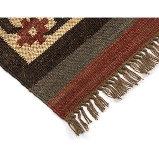 "Brick Hacienda Tribal (30""x50"") Jute / Wool Rug"