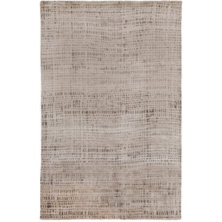 Hand-knotted Cleo Viscose Rug (6' x 9')