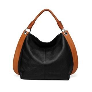 Vicenzo Leather Camelia Leather Hobo Handbag