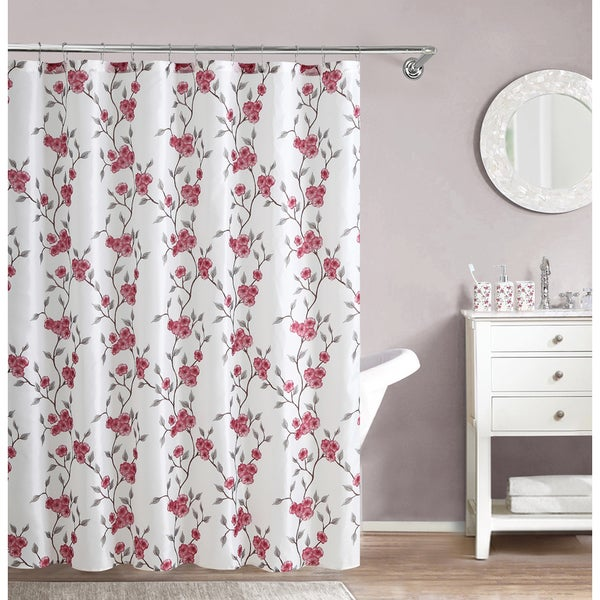 VCNY Amelie Floral 16-piece Bath Set with Shower curtain, Shower hooks, Tooth Brush Holder, Tumbler and Lotion Pump