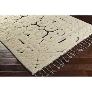Hand-Knotted Cooke Wool Area Rug - 2' x 3'