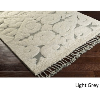 Hand-Knotted Cowes Wool Rug (2' x 3')