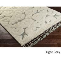 Hand-Knotted Cowes Wool Area Rug - 6' x 9'