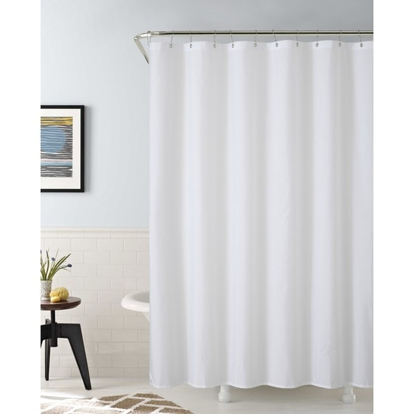 VCNY Waterproof Fabric Shower Liner