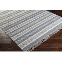 Hand-Woven Clarita Wool/Cotton Area Rug - 2' x 3'