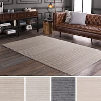 Hand-Woven Lexie Viscose/Wool Area Rug - 4' x 6'