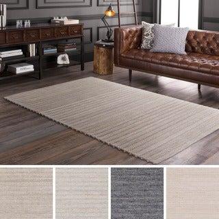 Hand-Woven Lexie Viscose/Wool Rug (5' x 7'6)
