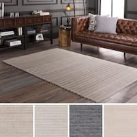 Hand-Woven Lexie Viscose/Wool Area Rug - 6' x 9'