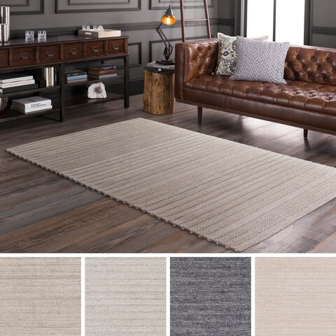 Strick & Bolton Carr Handwoven Viscose/ Wool Area Rug