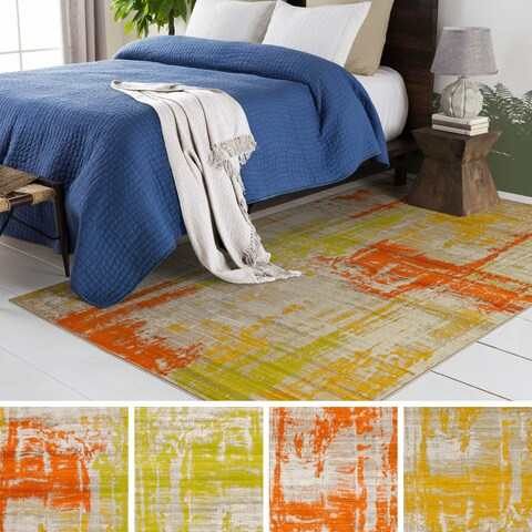 Porch & Den Lions Abstract Colorful Rectangle Area Rug
