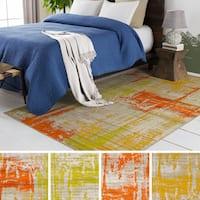 Clay Alder Home Lions Abstract Multicolor Area Rug - 7'6 x 10'6