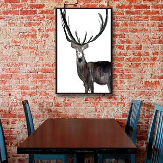 Melissa Lyons's Deer No Words, Gallery Wrapped Floater-framed Canvas