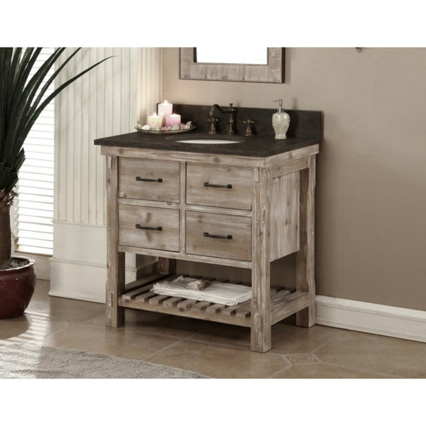 Shop Rustic Style Dark Limestone Top 36 Inch Bathroom