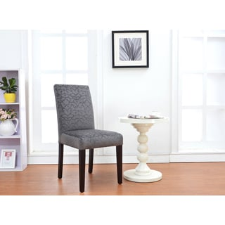 Linon Laura Parsons Chairs - Charcoal (Set of 2)