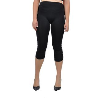 Soho Junior Gem Studded Capri Leggings Plus Size