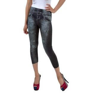 Soho Junior Printed Jean Capri Legging