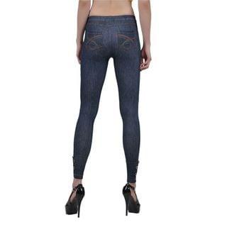 Soho Blue Junior Seamless Knitted Jean Jegging Legging