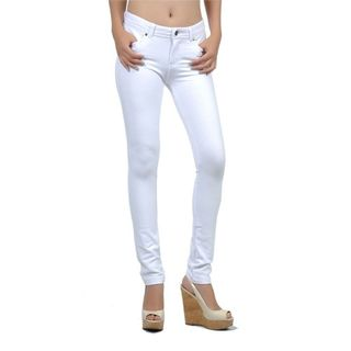 Soho White Junior Moleton Skinny French Terry Pants