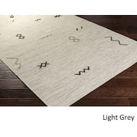 The Curated Nomad Arguello Wool Grey Tribal Area Rug - 8' X 11'