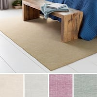 Hand-Woven Ethan Wool/Cotton Area Rug - 2' x 3'