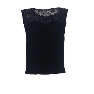 Soho Junior Upper Sheer Lace Back Sleeveless Top