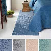 Hand-Tufted Mable Poly Acrylic Area Rug