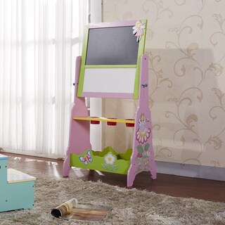 Adorable Kid's Fairy B&W Board Easel with Holder Tray