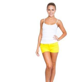 Soho Junior Yellow Comfortable French Terry Shorts