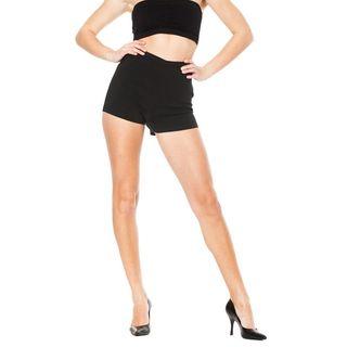 Soho Junior Black Stretchy High Waisted Millennium Shorts