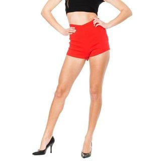 Soho Junior Red Stretchy High Waisted Millennium Shorts