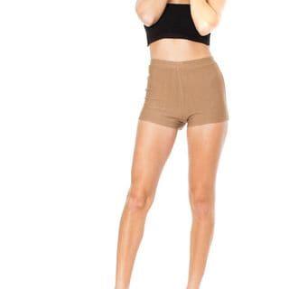 Soho Junior Mocha Stretchy High Waisted Shorts